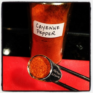Less than 1/4 tsp. Cayenne Pepper
