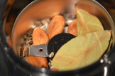 cardomom seeds and gently roasted almonds & bay leaves